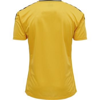 hmlAUTHENTIC POLY JERSEY S/S, SPORTS YELLOW/BLACK, packshot