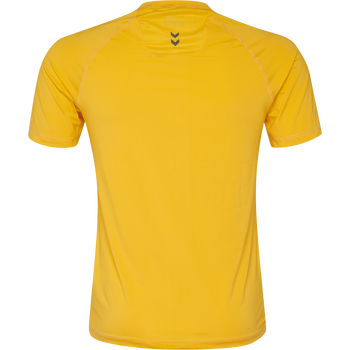 HUMMEL FIRST PERFORMANCE KIDS JERSEY S/S, SPORTS YELLOW, packshot
