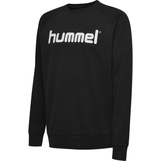HUMMEL GO KIDS COTTON LOGO SWEATSHIRT, BLACK, packshot