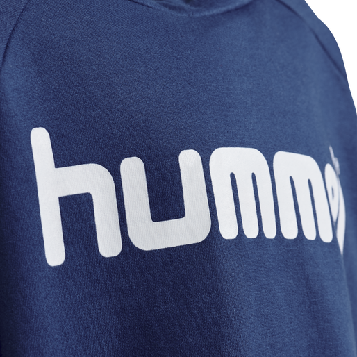 HUMMEL GO KIDS COTTON LOGO HOODIE, TRUE BLUE, packshot