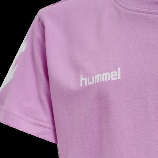 HUMMEL GO KIDS COTTON T-SHIRT S/S, ORCHID, packshot