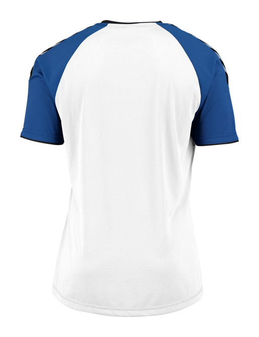 AUTH. CHARGE SS POLY JERSEY, WHITE/TRUE BLUE, packshot