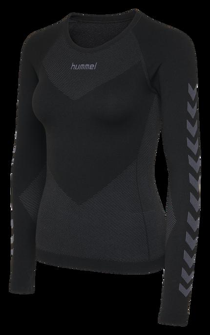 HUMMEL FIRST SEAMLESS JERSEY L/S WOMAN, BLACK, packshot