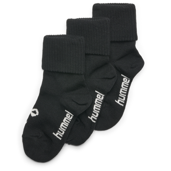 SORA 3-PACK SOCK, BLACK, packshot