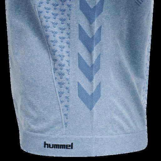 hmlCI SEAMLESS T-SHIRT S/S, FADED DENIM MELANGE, packshot