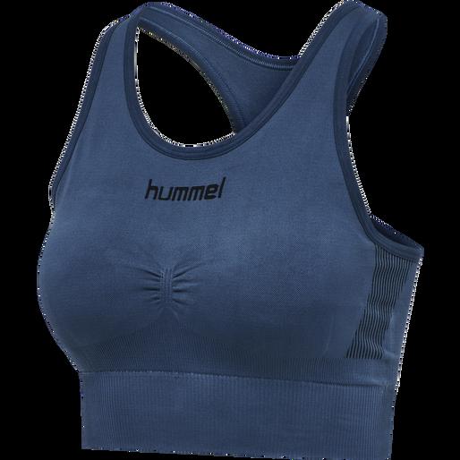 HUMMEL FIRST SEAMLESS BRA WOMEN, DARK DENIM, packshot