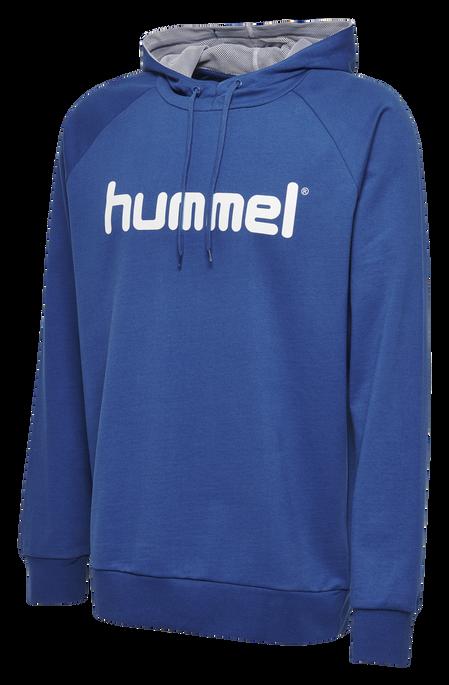 HUMMEL GO COTTON LOGO HOODIE, TRUE BLUE, packshot