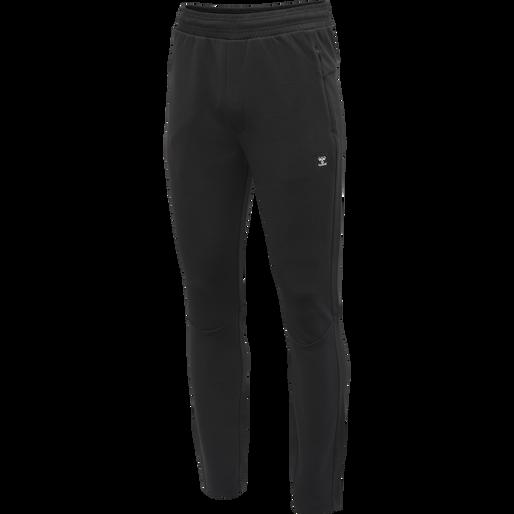 hmlTROPPER TAPERED PANTS, BLACK, packshot