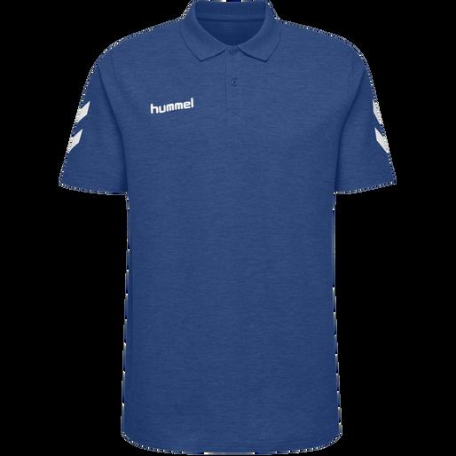 HUMMEL GO COTTON POLO, TRUE BLUE, packshot