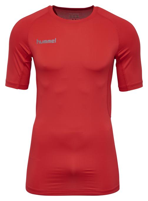 HUMMEL FIRST PERF SS JERSEY, TRUE RED, packshot