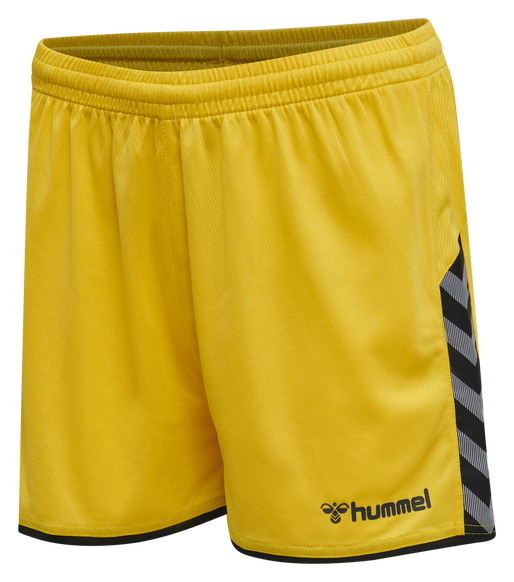 hmlAUTHENTIC POLY SHORTS WOMAN, SPORTS YELLOW/BLACK, packshot
