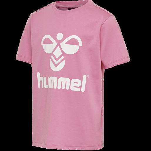 hmlTRES TEE SHIRT S/S, FUCHSIA PINK, packshot