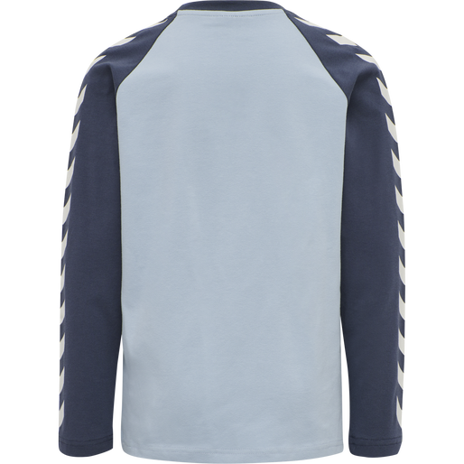 hmlBOYS T-SHIRT LS, BLUE FOG, packshot