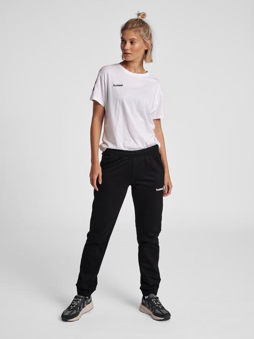 HUMMEL GO COTTON T-SHIRT WOMAN S/S, WHITE, model