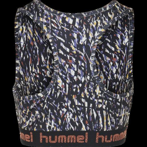 hmlMIMMI SPORTS TOP, BLACK/PURPLE, packshot