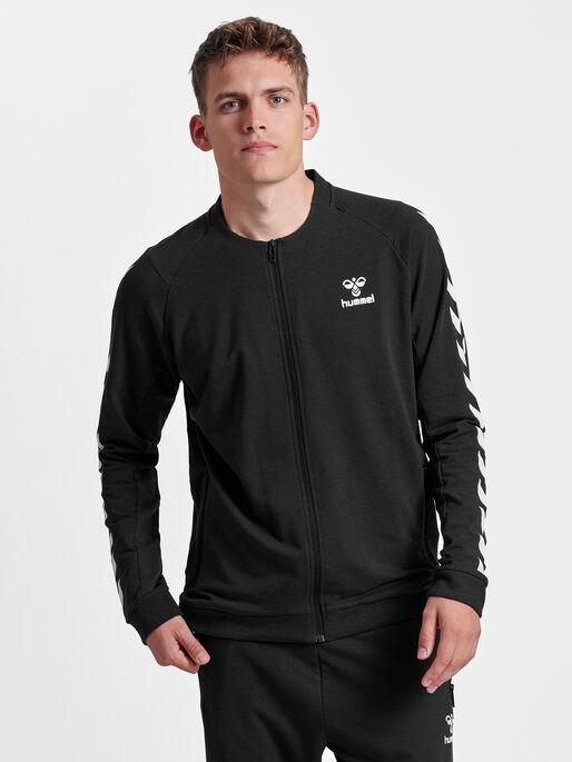 HMLRAY ZIP JACKET, BLACK, model