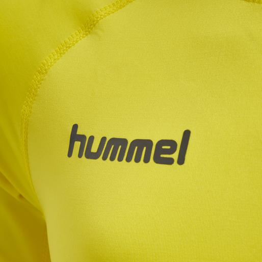HUMMEL FIRST PERFORMANCE KIDS JERSEY S/S, BLAZING YELLOW, packshot