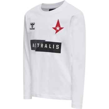 ASTRALIS T-SHIRT L/S KIDS, WHITE, packshot