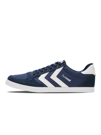 HUMMEL SLIMMER STADIL LOW, DRESS BLUE/WHITE KH, packshot