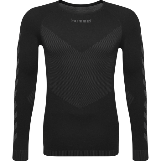 HUMMEL FIRST SEAMLESS JERSEY L/S , BLACK, packshot