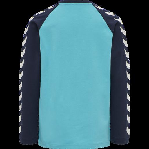 hmlBOYS T-SHIRT LS, SCUBA BLUE, packshot