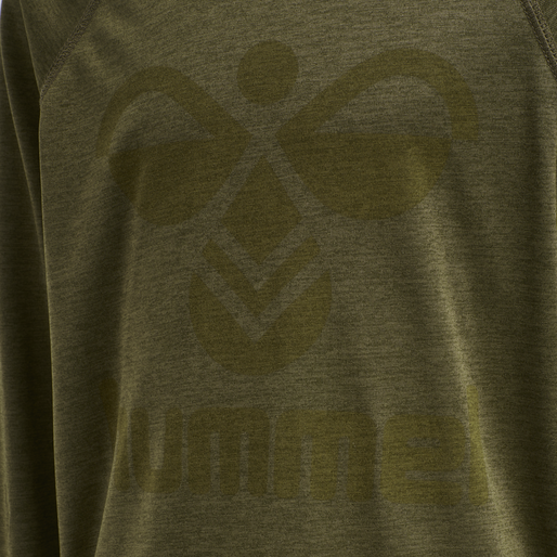 hmlSTEFF T-SHIRT L/S, MILITARY OLIVE, packshot