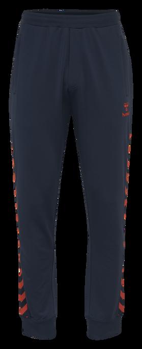 HMLNATHAN PANTS, BLACK IRIS/GRENADINE, packshot