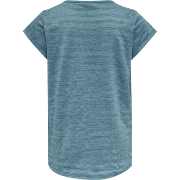 hmlSUTKIN T-SHIRT S/S, BLUE CORAL, packshot