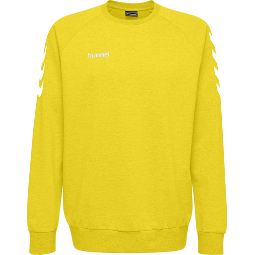 HUMMEL GO COTTON SWEATSHIRT, SPORTS YELLOW, packshot