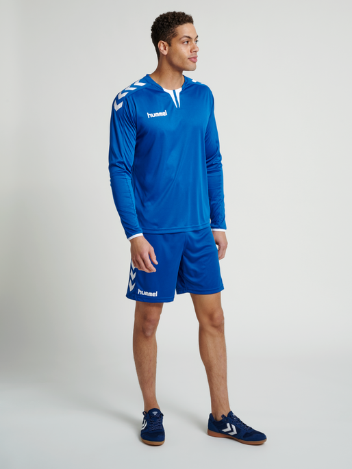 CORE LS POLY JERSEY, TRUE BLUE PR, model