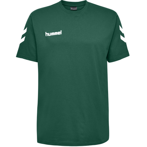 HUMMEL GO KIDS COTTON T-SHIRT S/S, EVERGREEN, packshot
