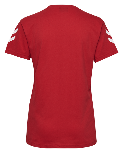 HUMMEL GO COTTON T-SHIRT WOMAN S/S, TRUE RED, packshot