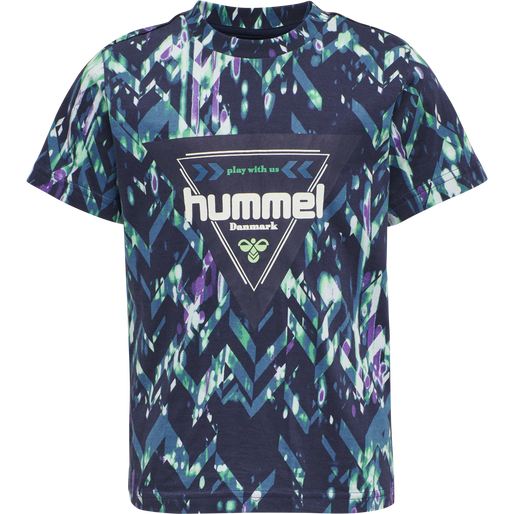 hmlEMIKO T-SHIRT S/S, BLACK IRIS, packshot