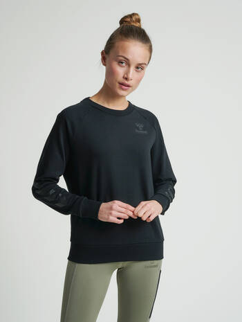 hmlNONI SWEATSHIRT, BLACK, model