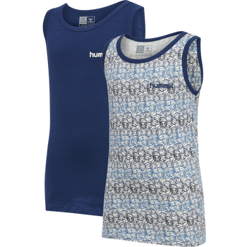 hmlNOLAN TANK TOP 2-PACK, ESTATE BLUE, packshot