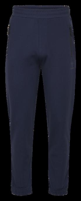 hmlLAURI REGULAR PANTS, BLACK IRIS, packshot