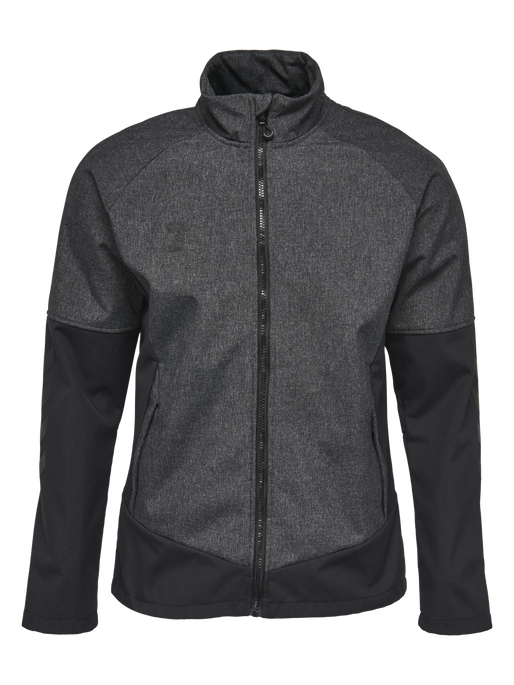 HMLASSER JACKET, BLACK MELANGE, packshot