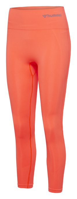 hmlTIF HIGH WAIST SEAMLESS TIGHTS, FIERY CORAL, packshot