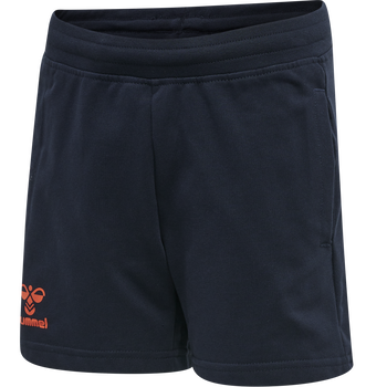 hmlACTION COTTON SHORTS KIDS, DARK SAPPHIRE/FIESTA, packshot