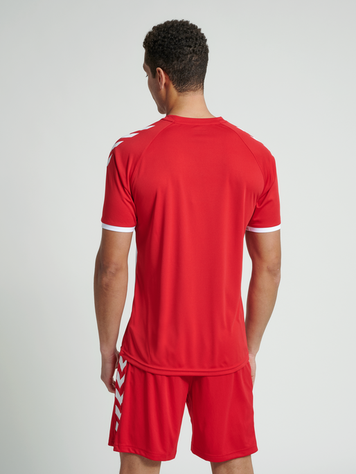 CORE STRIPED SS JERSEY, TRUE RED/WHITE, model