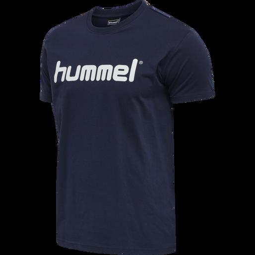 HUMMEL GO COTTON LOGO T-SHIRT S/S, MARINE, packshot