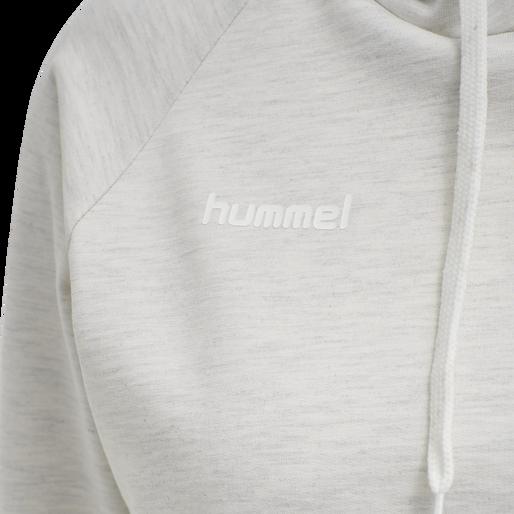HUMMEL GO COTTON HOODIE WOMAN, EGRET MELANGE, packshot