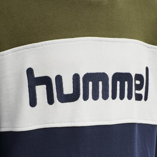 hmlMORTEN HOODIE, MILITARY OLIVE, packshot