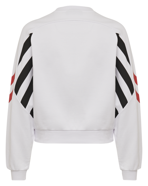 hmlHVIDBJERG SHORT SWEATSHIRT, WHITE, packshot