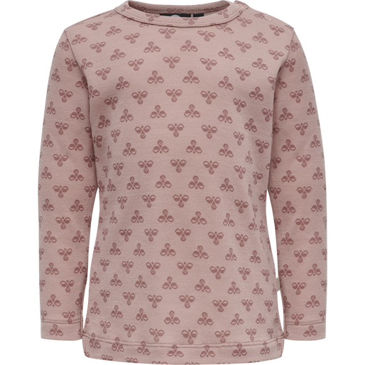 hmlVILMO T-SHIRT L/S, MISTY ROSE, packshot