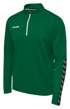 hmlAUTHENTIC HALF ZIP SWEATSHIRT, EVERGREEN, packshot