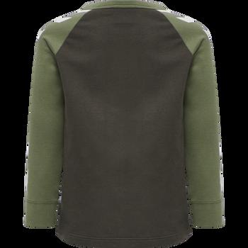 hmlRYAN T-SHIRT L/S, BLACK OLIVE, packshot
