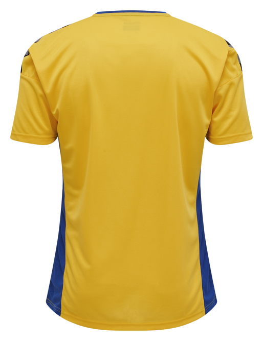 hmlAUTHENTIC POLY JERSEY S/S, SPORTS YELLOW/TRUE BLUE, packshot