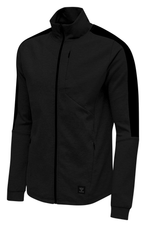 hmlTROPPER ZIP JACKET, BLACK, packshot