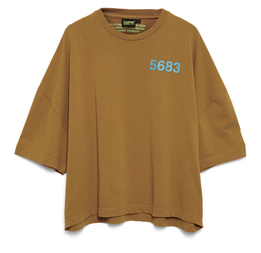 hmlWILLY RUFF NECK T-SHIRT S/S, TOBACCO BROWN, packshot